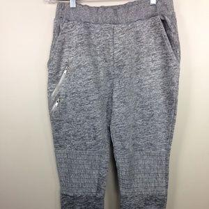 Zara Mens Marled Gray Joggers Pants Sz L New